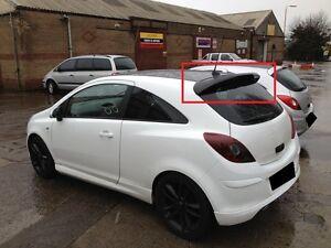 Opel Vauxhall Corsa D 3d 3 Doors Rear Roof Spoiler Vxr Look New Ebay