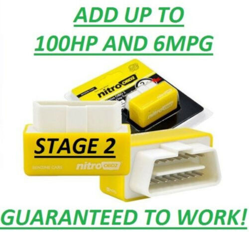 Yellow New Plastic OBD2 Tuning Box Performance Chip ECU Remap Power