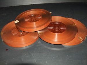 Nastro-Audio-Magnetico-per-pellicola-film-16mm-lotto-quattro-bobine-21cm