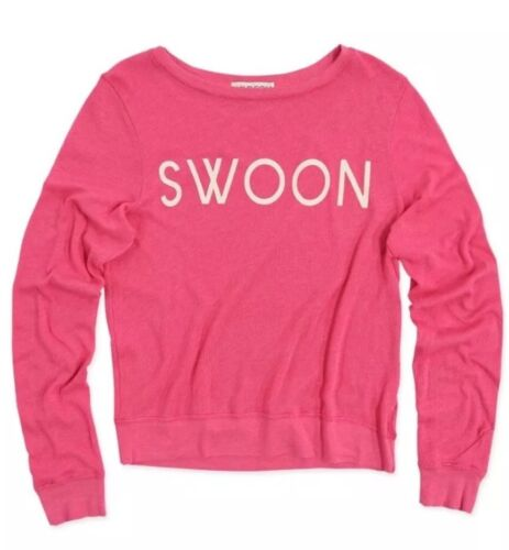 Pull Pink Summer Sz XsNouveau Baby Swoon Sweatshirt Top Wildfox Cozy Blanket c53RjqA4L