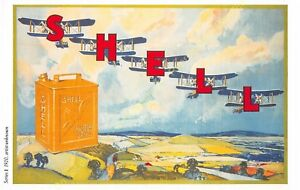 Post Card PUBLICITE ADS SHELL OIL n7 ILLUSTRATION ARTIST UNKNOWN
