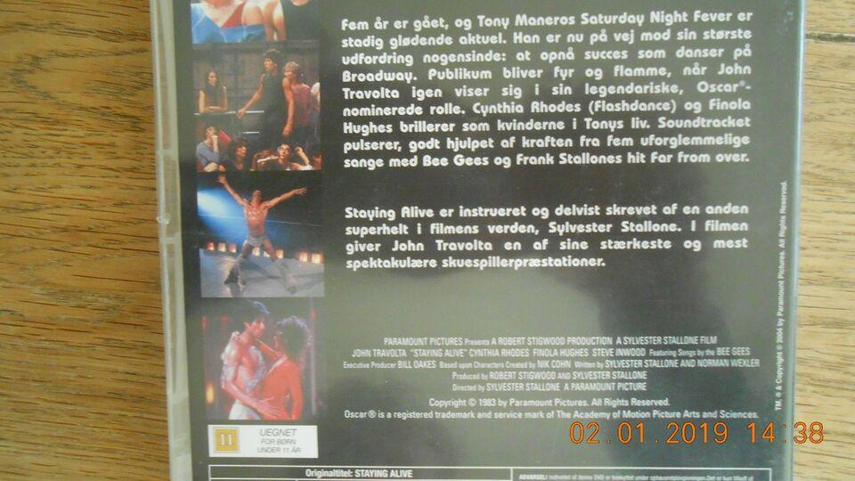 Staying Alive, instruktør Sylvester Stalone, DVD