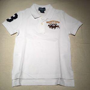 a21b88ec6222c Polo Ralph Lauren Classic Blanco Triple Pony Logotipo Camisa De ...