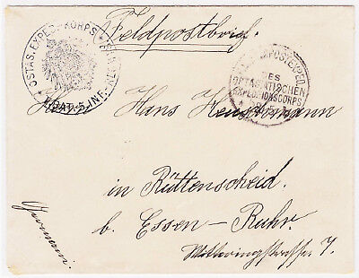 1900's China Cover Tientsin Feldpost OstasExped to Essen Germany Boxer Rebellion
