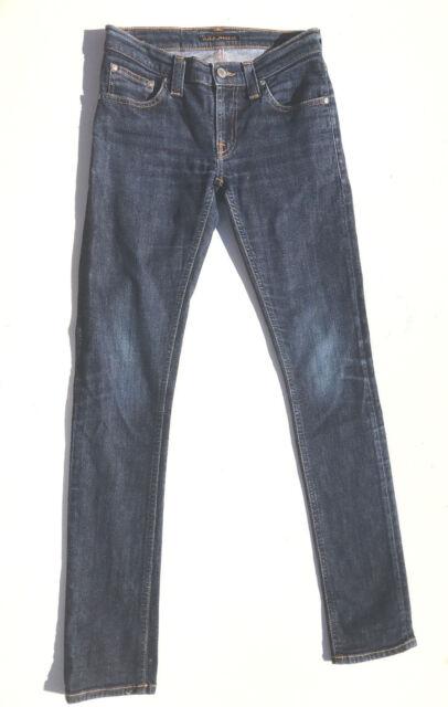 Nudie Jeans 'TIGHT LONG JOHN DENIM STRETCH' W26 L32 AU8 US4 Womens Girls