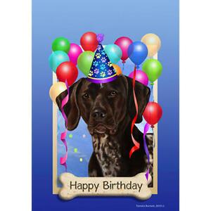German Shorthair Pointer Happy Birthday Flag Ebay