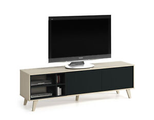 Mueble-de-TV-y-multimedia-para-salon-comedor-en-color-roble-y-antracita