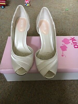 Paradoja Rosa Zapatos de boda tamaño de Reino Unido 4