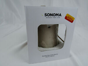 Sonoma Wax Warmer Holiday with Pine Cones Cream Color New in Box No Bulb #58451