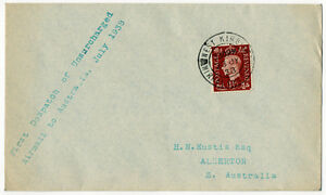 (I.B) Goerge VI Postal : Australia Unsurcharged Air Mail Cover (1938)