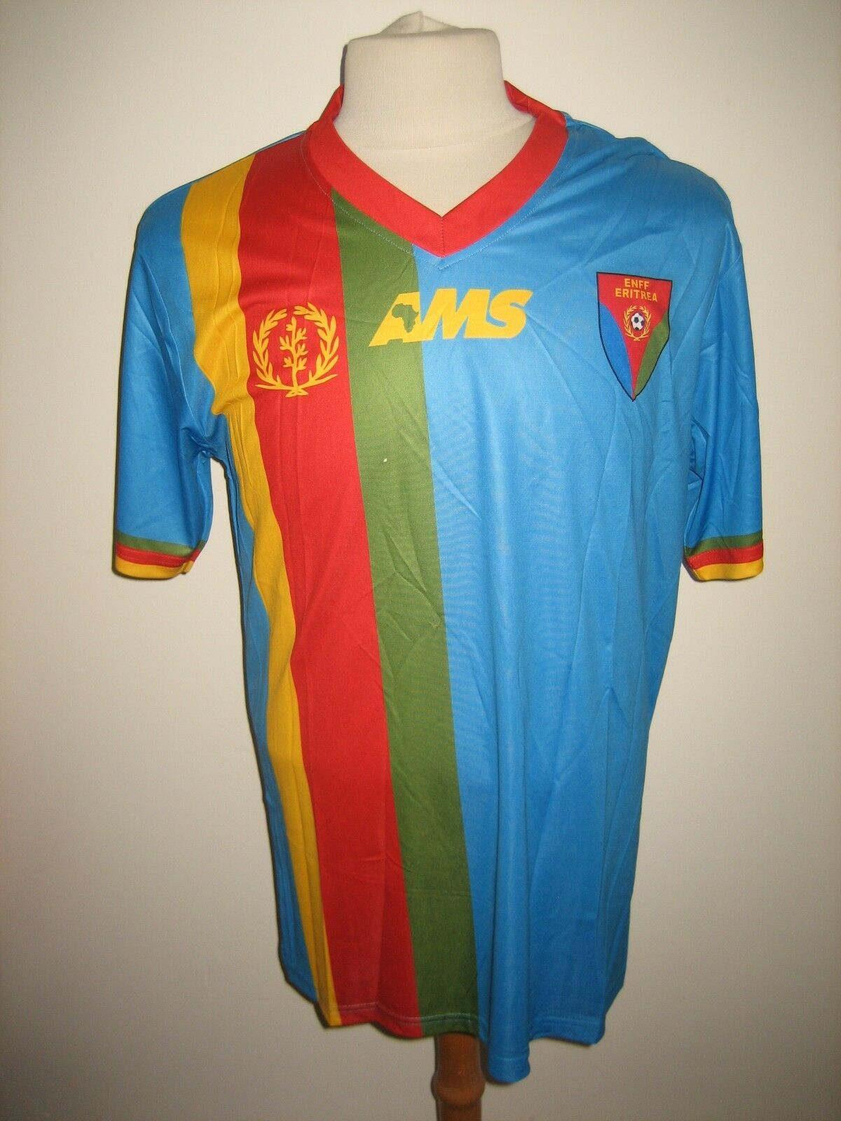 Eritrea away rare CAF Africa footbtutti shirt soccer jersey maillot trikot Diuominiione M
