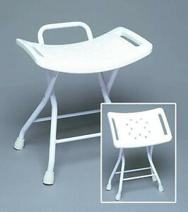 Medical Portable Shower Chair Folding Bathtub Seat With Handles And Drain Holes Ebay
