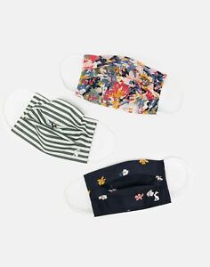 Joules Womens Non Medical Face Covering 3-Pack - Multi Pack - One Size