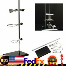 50cm Laboratory Stands Support Platform Bottle Tube Clamp Bracket With2 Rings Usa
