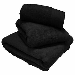 Luxury 100 Egyptian 600gsm Cotton Thick Heavyweight Combed Towels or Mats Black Hand Towel