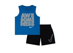 NIKE AIR OUTFIT SET SHIRT   SHORTS BASKETBALL BOYS Set Size 12 ... 8ebb6f1ee