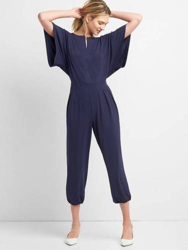 Gap Kimono Sleeve Jumpsuit, Sz XL Dark Night (141138)