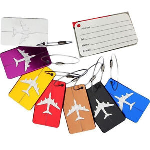 Travel-Aluminium-Plane-Luggage-Tags-Suitcase-Label-Name-Address-ID-Baggage-Tag-S