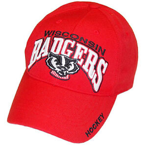 hot sale online 56126 3eb7d Image is loading Wisconsin-Badgers-Hockey-Top-of-the-World-Red-