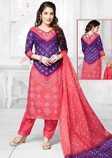 Elegant Cotton Printed Unstitched Dress Material Salwar Suit D.No D721