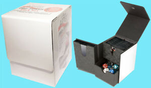 ULTRA-PRO-PRO-TOWER-DECK-BOX-WHITE-3-Compartment-Game-Card-Dice-Dual-Case-MTG