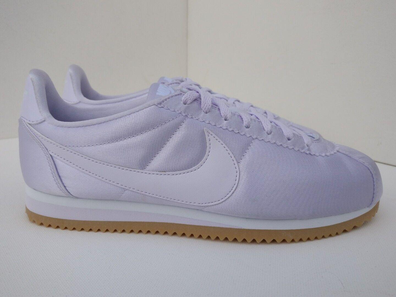 Nike De Mujer Clásico Cortez Satén Reino Unido Unido Unido 9 apenas Uva blancoo Goma Púrpura 920440500  despacho de tienda