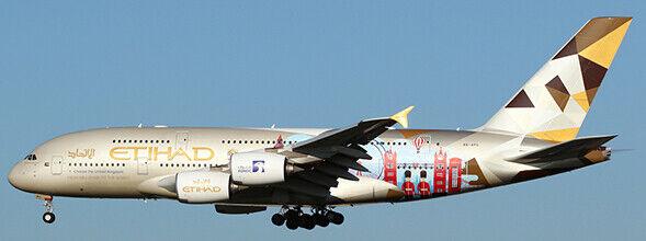 JC4254 -1 400 ETIHAD AIRWAYS AIRBUS A380 (CHOOSE THE UNITED KINGDOM) REG  A6-APC