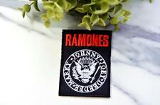 THE RAMONES Dee Dee Marky Johnny Joey Funk Rock Alternative Round Iron Sew On