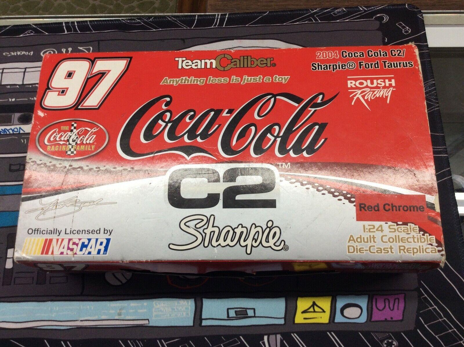 2004 1 24 Kurt bussch Coca-Cola C-2 Sharpie Autographed Nascar W  Box