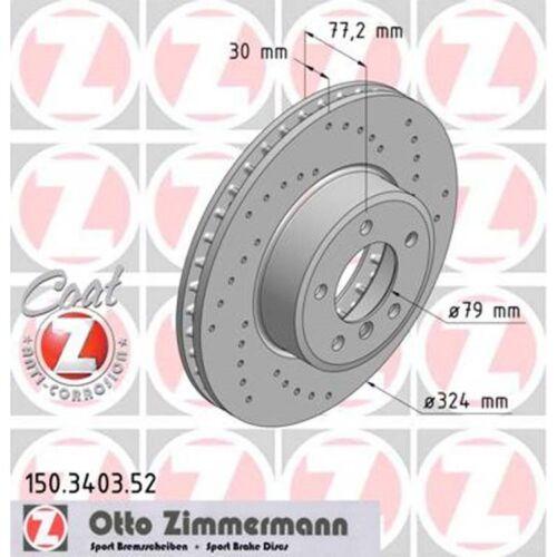 Sport-Bremsscheiben BMW E60 E63 Touring vorne 324mm Zimmermann