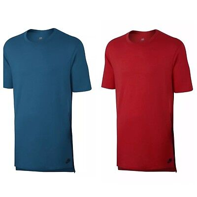 Nike Sportswear Nsw Droptail Bonded Mesh Men's T-shirt Blue Red Black To Reduce Body Weight And Prolong Life 847507