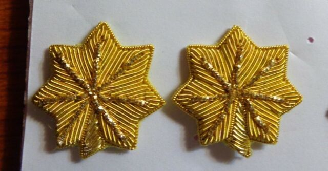 USAF  US ARMY, USN,DRESS WHITE BACKED BULLION,MAJOR , 1 PAIR