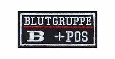 B + Pos Blutgruppe Patch Aufnäher Badge Biker Heavy Rocker Bügelbild Kutte Stick