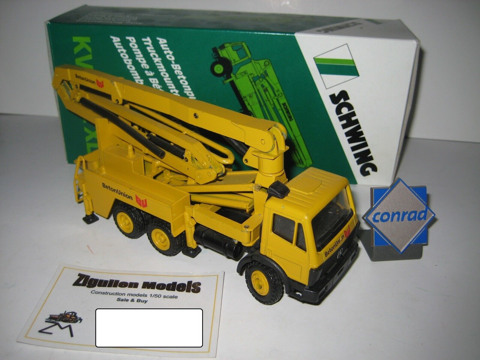 Bouge KVM 32 Mercedes béton pompe à béton Union  3093 CONRAD 1 50 NEUF dans sa boîte