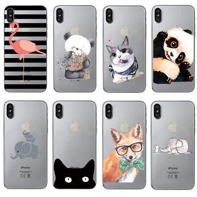 COVER CUSTODIA per IPHONE X SILICONE Morbida GATTO Smile Cat  eBay
