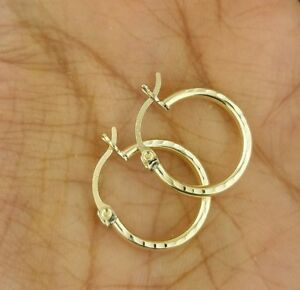 2-mm-Diamond-Cut-Round-Hollow-Hoop-Earrings-0-6-Inches-10K-Yellow-Gold-1-2-grams