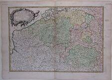 1783 PARTIE MERIDIONALE DES PAYS BAS Janvier Belgium Belgique Luxembourg etching