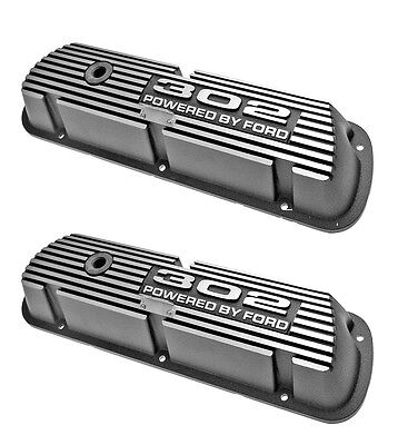 New! Ford Mustang Falcon Bronco Fairlane Cougar 302 Valve Covers Aluminum Pair
