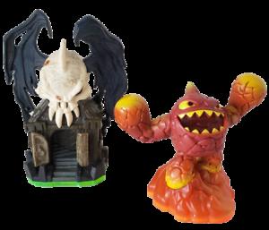 Skylanders Giants Eruptor / 84552888 & Darklight Crypt / 84002888 (m3) VA