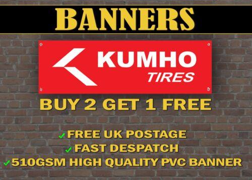 Shop Display LARGE 2 METRE Kumho TYRES Banner for Garage