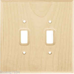 Image Is Loading Unfinished Wood Stainable Double Light Switch Wallplate Wall
