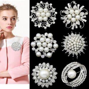 DIY-Bouquet-Crystal-Rhinestone-Pearl-Flower-Brooch-Pin-Wedding-Fashion-Jewelry