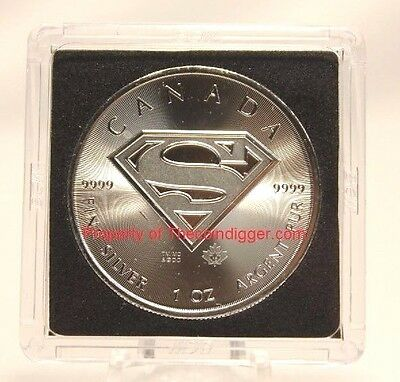 5 BCW Canada Silver Maple Leaf 2x2 Coin Holder Snap Capsule 38.1mm Superman Case