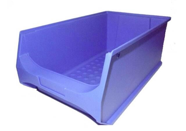 30 Stapelboxen Gr.4 Stapelkisten Kunststoff PP blau Lagerkisten Lagerboxen