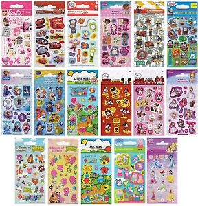 Licensed-Character-STICKERS-6-Sheets-Party-Pack-Birthday-Loot-Bag-Fillers-1C