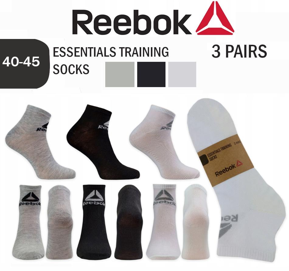 Reebok 3 Pack Quarter Socken RBK Kurzsocken Füßlinge Unisex Baumwolle RB600TG