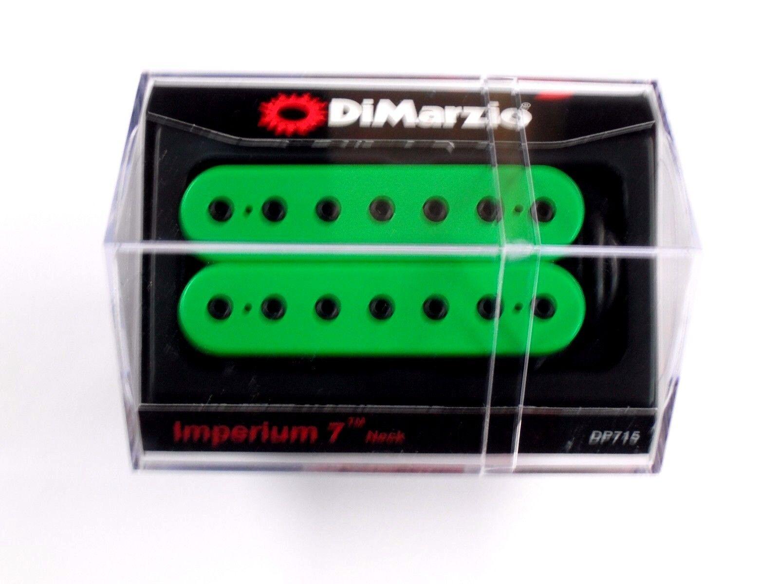 Dimarzio Imperium 7 cuerdas con mástil Humbucker Humbucker Humbucker verde con postes de Negro DP 715  calidad garantizada
