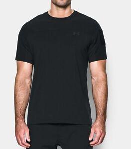Men-039-s-Under-Armour-UA-Tactical-Combat-tactical-Short-Sleeve-Shirt-Black-1279640