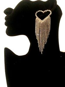 Womens Statement Long Big Large Crystal Diamante Drop Dangle Earrings Wedding