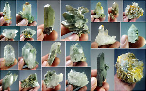 Natural-Stunning-Lot-of-Chlorite-Quartz-Crystals-Specimens-Pakistan-21Pcs-1-9kg